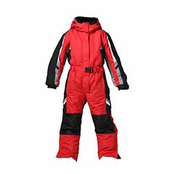 PRESELF@ One-Piece Winter Snowsuit for Boys Girls Waterproof