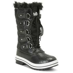 Polar Products Womens Snow Boot Nylon Tall Winter Fur Lined