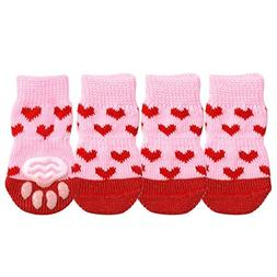 HOMZE Puppy Dog Shoes Anti-Slip Knit Socks Small Dogs Cat Sh