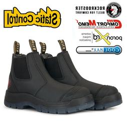 ROCKROOSTER Safety Work Boots Mens Shoes Steel Toe Water Res