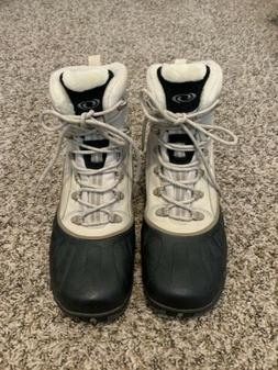 Salomon Waterproof Thinsulate Ultra White Leather Winter Sno