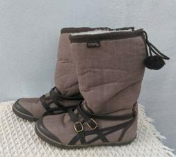 Asics Sienna Winter Boots Shoes- Women's- Size 6- Brown Flee