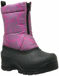 Northside Size 1 Frosty Insulated  Snow/Winter FUSHIA/SILVER