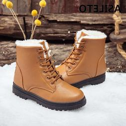 ASILETO size 35-44 solid snow winter <font><b>boots</b></fon