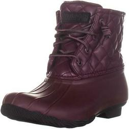 Sperry Top-Sider Saltwater Rain Boots, Quilt Leather Wine, 8
