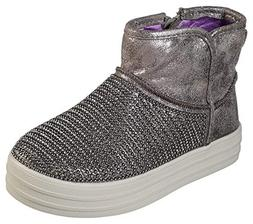 Skechers Street Double Up Shiny Season Girls Ankle Boots Pew