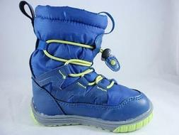 Northside Tobaggan Kids Snow Boots Blue+Lime Insulated Winte