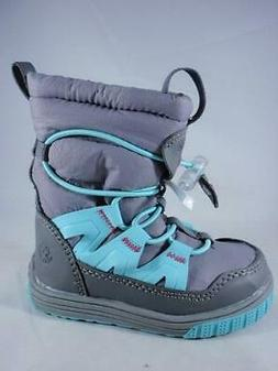 Northside Tobaggan Kids Winter Boots Gray+Blue Pull On Insul
