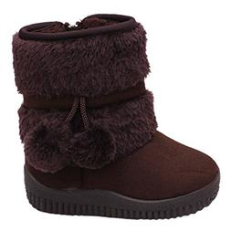 Toddler Baby Boy's Girl's Snow Boot Flat Pom Pom Winter Warm