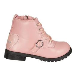 bebe Toddler Girls Lace up Combat Boots Size 8 Heart Buckle
