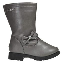 bebe Toddler Girls Riding Boots Size 5 Side Bow Slip-On Low-