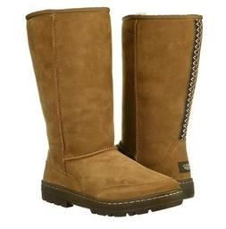 UGG Womens Ultra Tall Revival Boots Chestnut Size 11 Winter