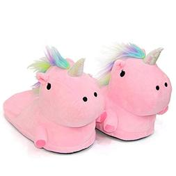 Nafanio Unicorn Home Slippers Winter Warm for Women Kids Car