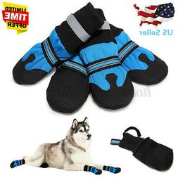 US Large Dog Shoes Boots Booties For Snow Winter Waterproof