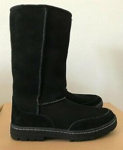UGG Women's W Ultra Tall Revival Fashion Boot, Black, 9 M US