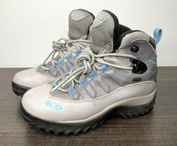 SALOMON Waterproof Leather Winter Thinsulate Gray Snow Boots
