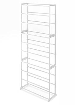 Whitmor 6780-3048-WHT Shoe Rack - Floor - 60 x Shoes - Resin