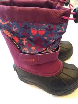 Columbia Columbia Winter Boots Girls Pink Printed Waterproof