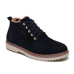 Winter Men's Snow Walking Ankle Boots With Fur Hi Tops Comfo