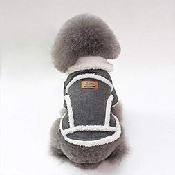 BiBaBoMax 1Pc Winter Pet Dog Clothes Padded Pet Coat Dog Jac