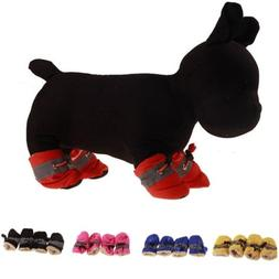 Winter Warm Pets Dogs Snow Boots Antislip Outdoor Protective