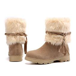 Susanny Women's Winter Fashion Warm Short Booties Casual Out