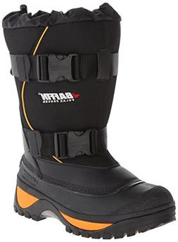 Baffin Men's Wolf Snow Boot,Black/Expedition Gold,8 M US