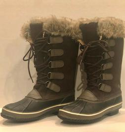 Womans Northside winter boot. Brown suede, upper faux fur. b