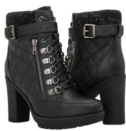 Women's Black Ankle Boots Size 10
