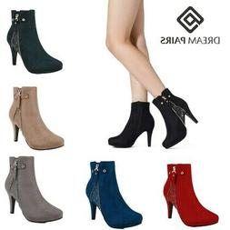 DREAM PAIRS Womens Fashion Ankle Boots Stiletto High Heels Z