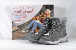Women's Skechers D'Lites-Alps Winter Boots Charcoal