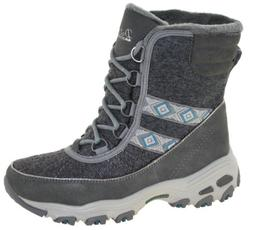 Skechers Women's D'Lites-Snow Park Winter Boots Charcoal Sty