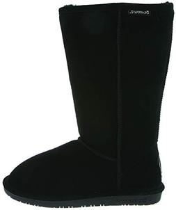 BEARPAW Women's Emma Tall Winter Boot, Black, 6 M US