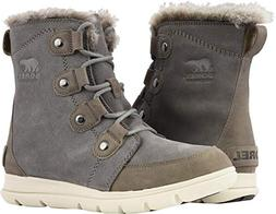 Sorel Women's Explorer Joan Boots, Quarry/Black, 8.5 M US