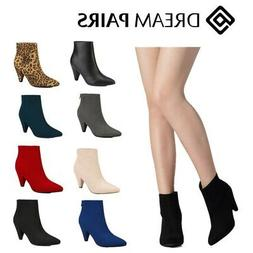 DREAM PAIRS Women Fashion Ankle Boots Pointed Toe High Heel
