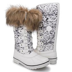 Kingshow Women's Globalwin 1707white Print Waterproof Winter
