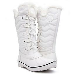 KINGSHOW Women's Globalwin 1711 Winter Snow Boots 9 White