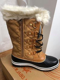 Kingshow Women's Globalwin Wheat/Black Waterproof Winter Boo