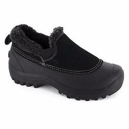 Women's NORTHSIDE KAYLA Black Insulated Leather Winter Slipp