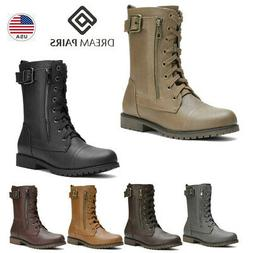 DREAM PAIRS Women Winter Mid Calf Military Pocket Wallet Lac