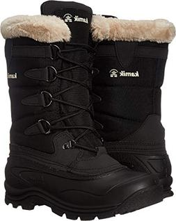 Kamik Women's Shellback Insulated Winter Boot, Black, 10 M U