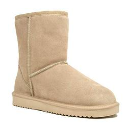DREAM PAIRS Women's Shorty Sand Sheepskin Fur Ankle High Win