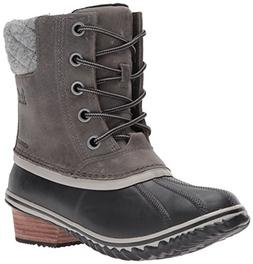 SOREL Women's Slimpack Lace II Snow Boot, Quarry, Black, 6.5
