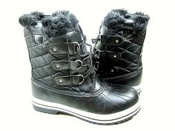 women s snow boot rain black waterproof