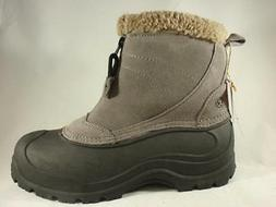 Women's NORTHSIDE SUN RIDGE Gray Leather Insulated Winter Sn