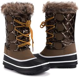 mysoft Women's Waterproof Winter Boots, Warm Insulated Snow