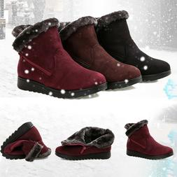 Women Snow Boots Plus Size Winter Ankle Shoes Warm Short Plu