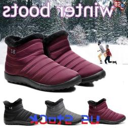 women waterproof winter snow boots ladies fur