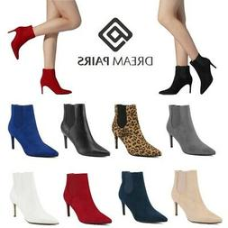 DREAM PAIRS Women Winter Ankle Boots Stiletto High Heel Poin