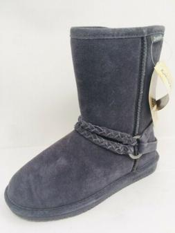 Womens Bearpaw Boots Adele Suede Sheepskin Wool Lining Winte